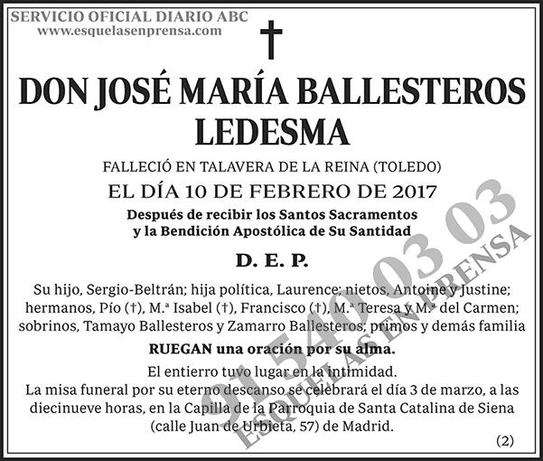 José María Ballesteros Ledesma